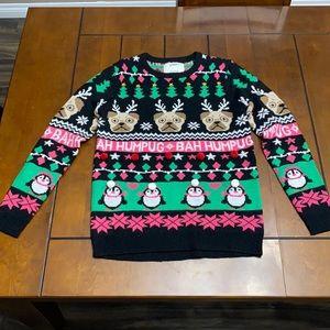 Happy Holidays Bah Humpug Xmas sweater size M